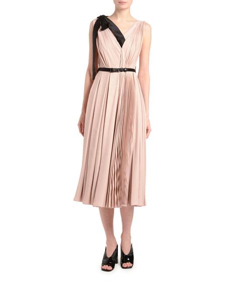 Fluid Twill Crepe-Back Satin Asymmetric Dress