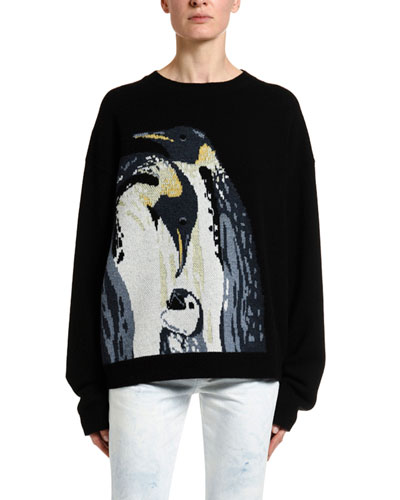 Penguins Intarsia Sweater