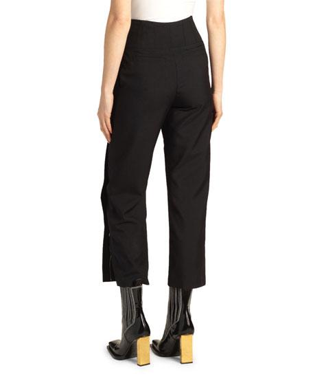 High-Rise Split-Hem Pants