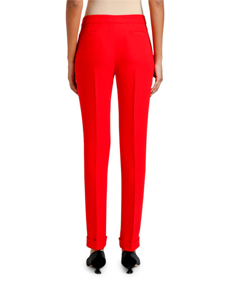 Cady Zip Front Tapered Cuff Pants