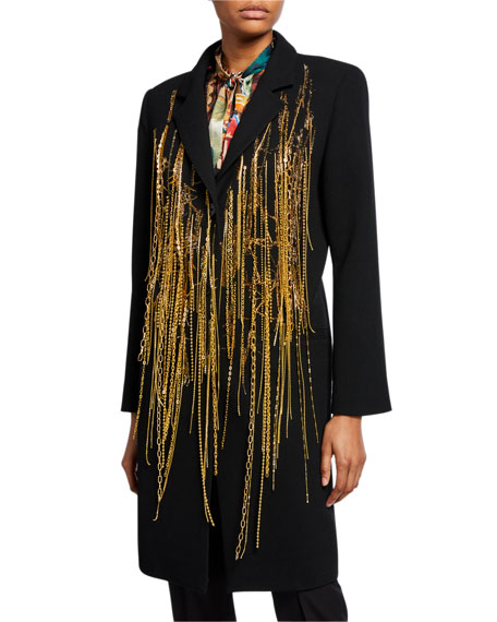 Off the Chains Wool Crepe Coat