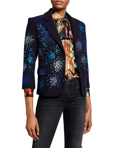 Mo' Monet Mo' Problems Sequin Embellished Blazer