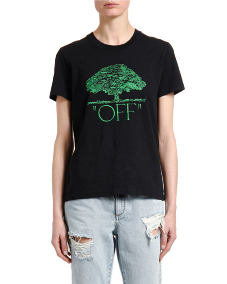 Tree Graphic Short Sleeve Tee by Off White