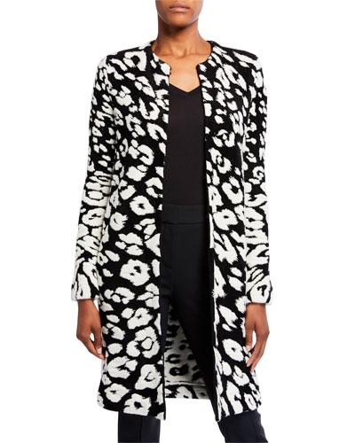 Leopard-Print Wool Cardigan