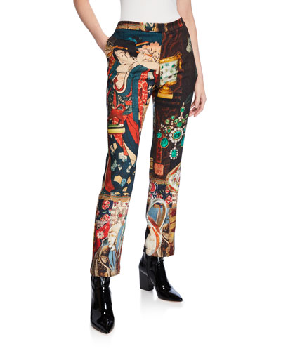 Memento Mori Wool Ankle Pants