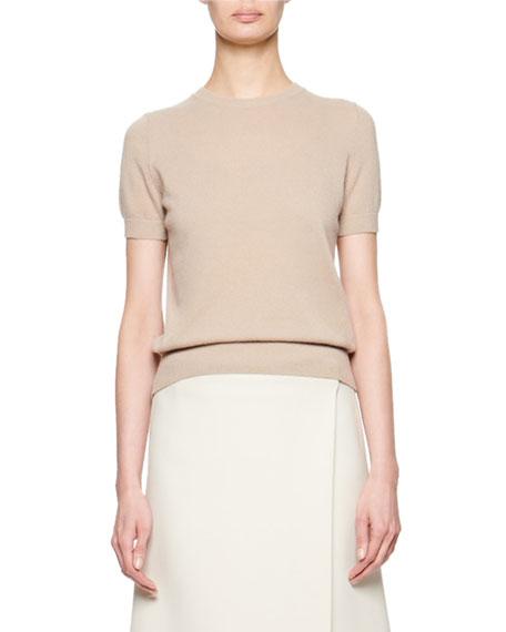 Tati Cashmere/Silk Short-Sleeve Top