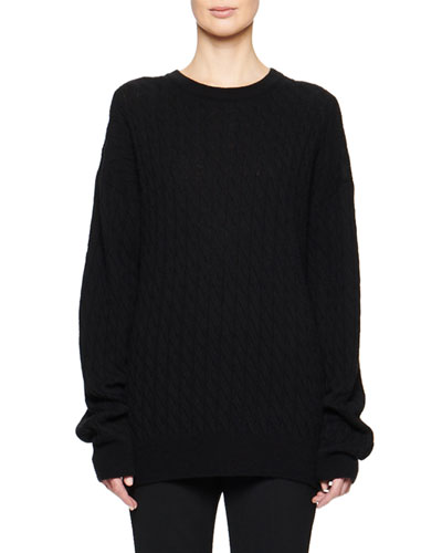 Minorj Cashmere-Silk Cable-Knit Sweater