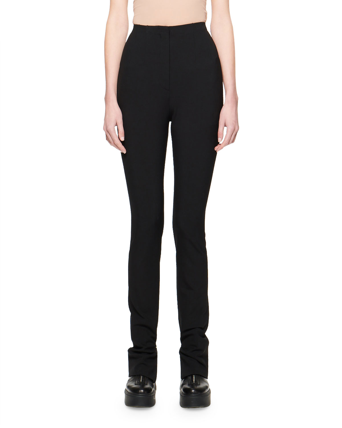 Exact Product: Corso Bi-Stretch Wool Pants, Brand: The Row, Available on: bergdorfgoodman.com, Price: $990