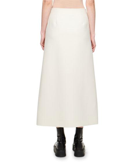 Saio Wool-Silk Wrap Skirt