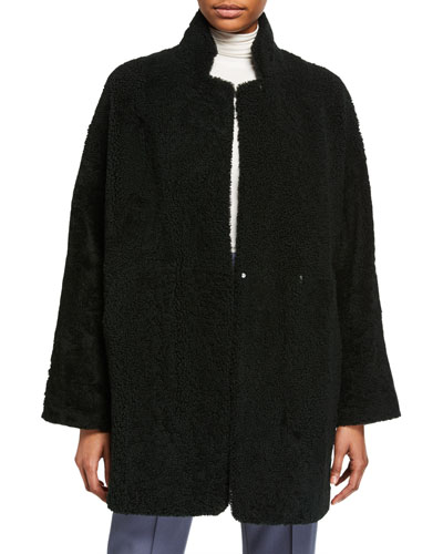 Mernillo Leather and Shearling Reversible Coat