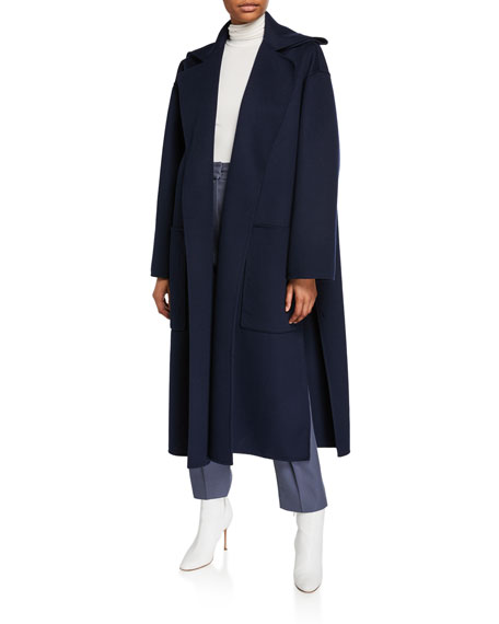 Wool-Cashmere Double-Face Coat