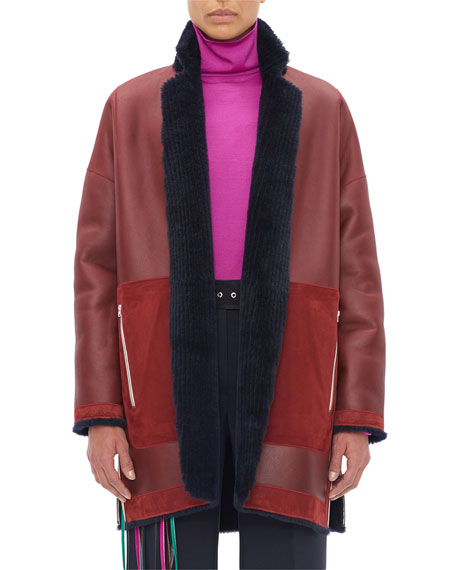 Reversible Corduroy Shearling Coat