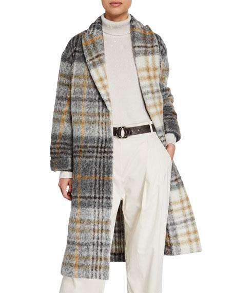 Check Felted Alpaca Coat