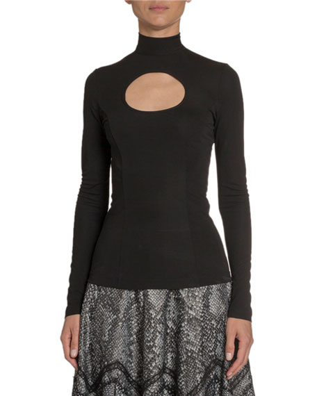 Keyhole-Front Jersey Top