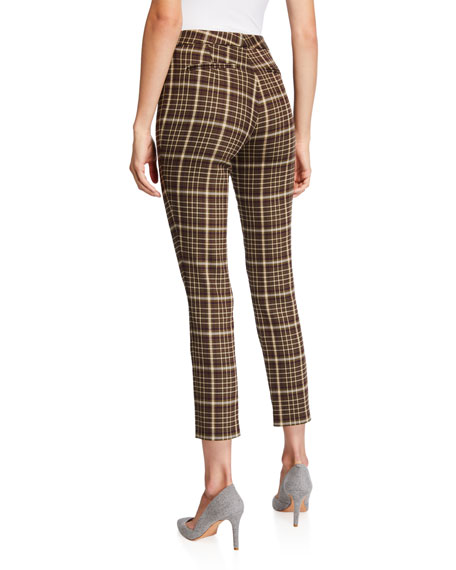 Check Double-Face Wool Cigarette Pants