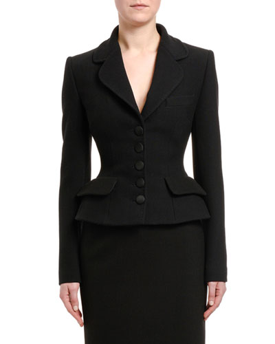 Wool Peplum Jacket