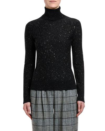 Mohair-Silk Turtleneck Sweater