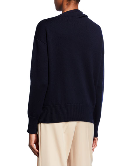 Wool Bow-Neck Sweater