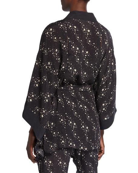 Niko Star-Print Kimono Jacket