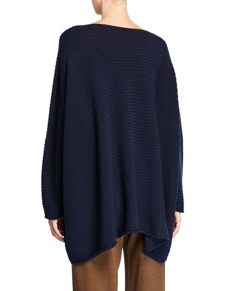 Cashmere Slim-Sleeve Caftan Sweater