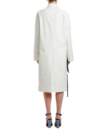 Flower-Applique Cotton Coat