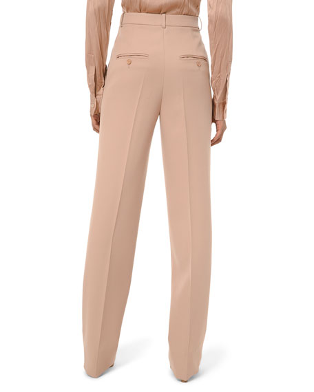 High-Rise Straight-Leg Trousers