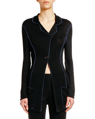 Asymmetric Long Jacket