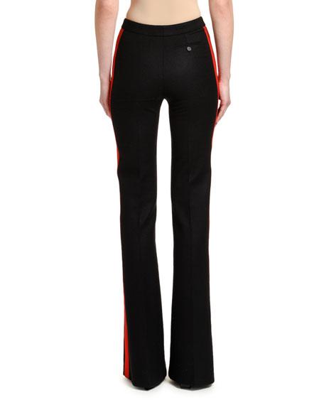 Oxbridge Flannel Tuxedo Flare Pants