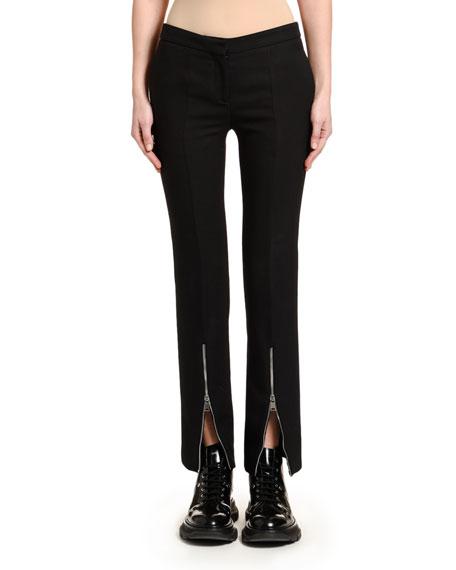 Crepe Zip-Cuff Trousers
