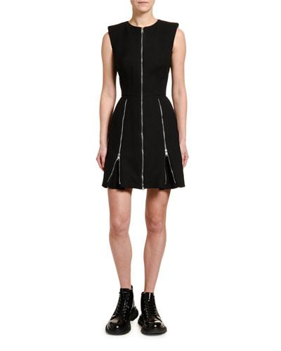 Wool-Silk Zip-Side Dress