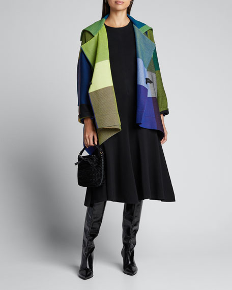 Image 1 of 1: Textured Wrapped Wool Short Coat