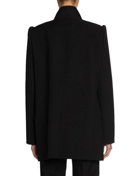 Wool Gabardine Single-Breasted Blazer