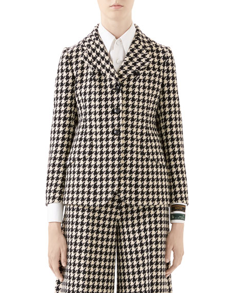 Image 1 of 1: Houndstooth Fitted Jacket