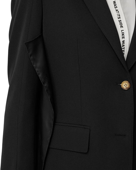 Single-Breasted Button-Front Jacket