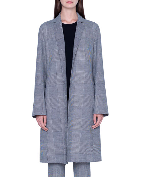 Wool Plaid-Lined Coat