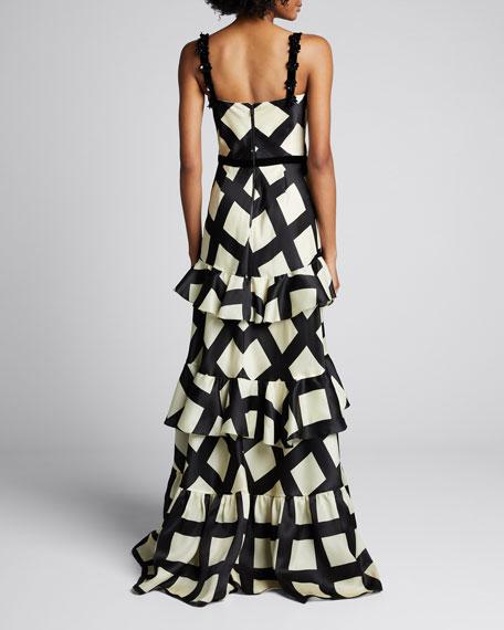 Silk Route Check Organza Dress