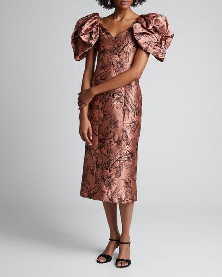 Synchronicity Floral-Print Off-the-Shoulder Midi Dress