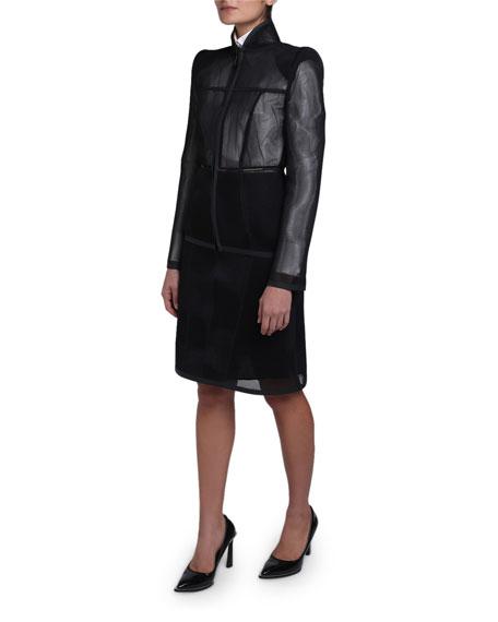 Mesh Zip-Front Jacket