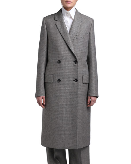 Pixel Wool Double-Breasted Coat