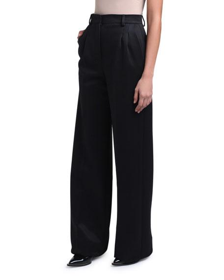 Compact Jersey Wide-Leg Pants