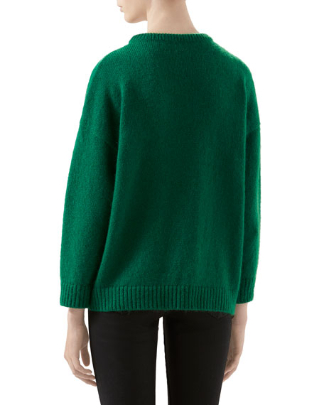 Cat-Patch Wool Sweater