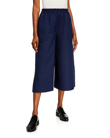 Image 1 of 1: Quilted Culotte Pants