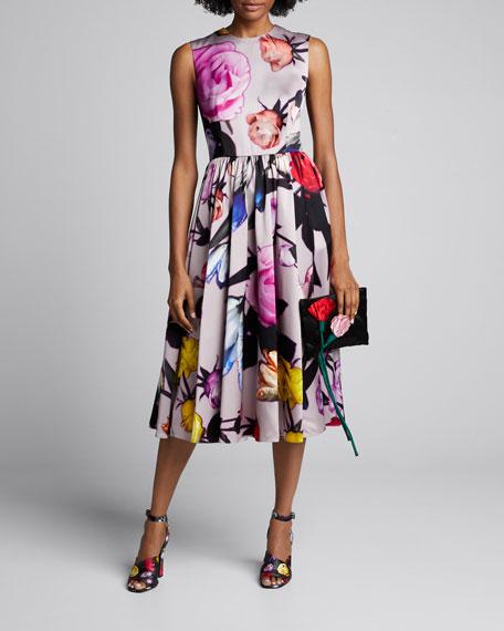 Duchess-Satin Sleeveless Full-Skirt Gown