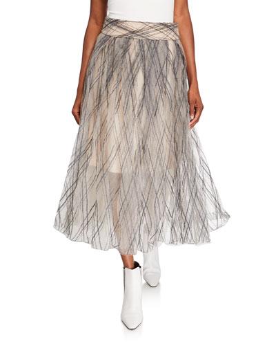 Monili-Argyle Tulle Skirt