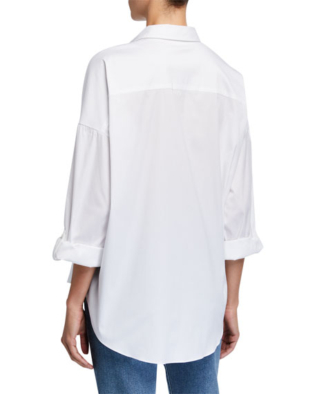 Cotton Poplin Boxy-Fit Shirt