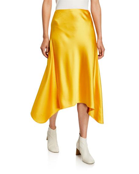 Satin Asymmetric Skirt