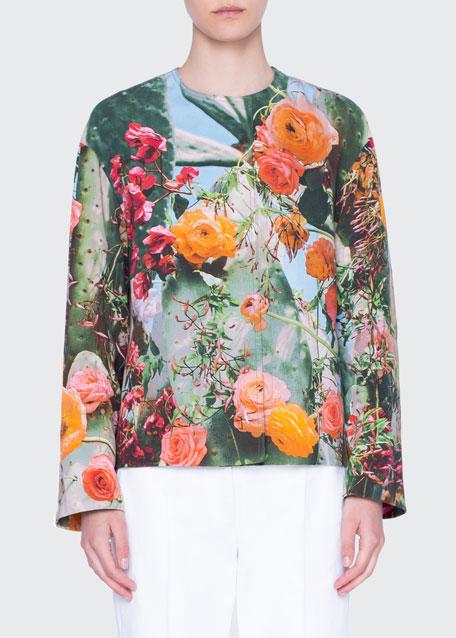 Cactus Blossom Gabardine Cotton Jacket