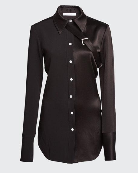 Matte Shiny Paneled Shirt