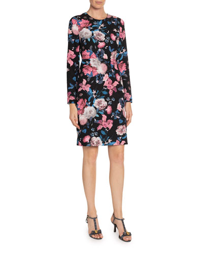 Evita Dusk Bouquet Pencil Dress