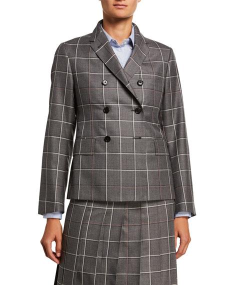 Windowpane Wool-Twill Jacket